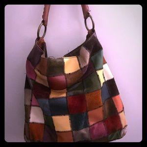 Lucky Brand Patchwork Hobo Bag